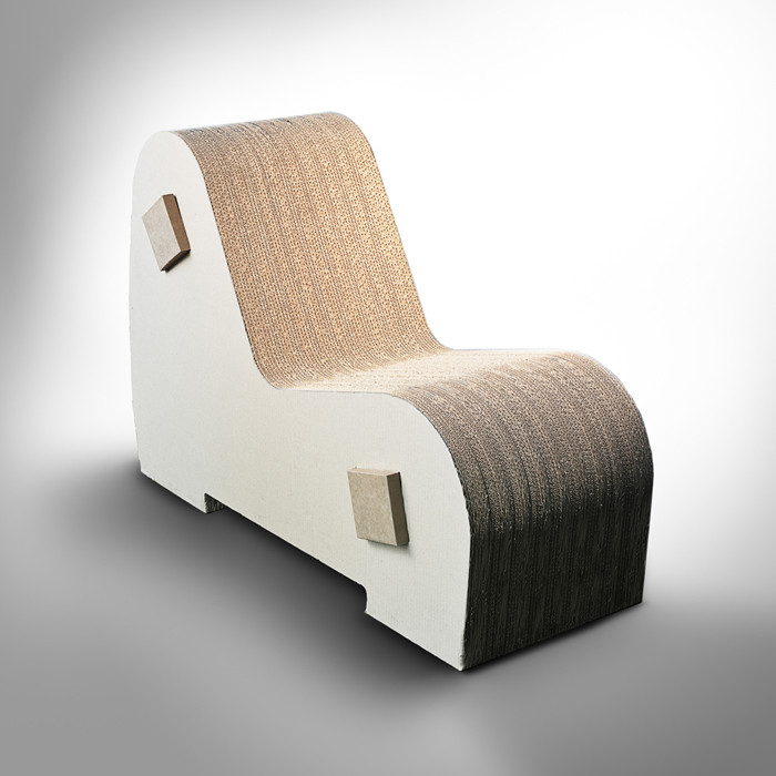 Chaise Longue. Designed by Giancarlo Santoro for DIE/CUT